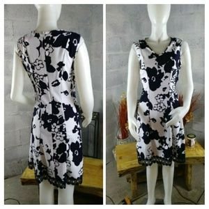 Sandra Darren  New White/navy  Dress